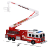 "Friction Power Fire Truck Toy 17"" Firefighter Rescue Engine"