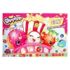 Solve Puzzles and Color Cute Shopkins Characters like Poppy Corn, D'lish Donut, Strawberry Kiss