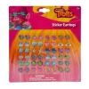 24 Pairs of Girls Sticker Earrings featuring Images from Trolls - Poppy, DJ Suki, Guy Diamond