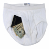 The Stash Safe Wearable Hidden Contents Mens Brief Underwear Travel Security