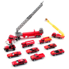 Deluxe 50pc Emergency EMT Fire Rescue Micro Wheels Kids Diecast Toy Car Play Set