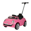KidPlay Products Licensed Kids Ride On Fiat 500 Push Car Stroller - Pink