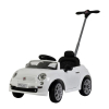 KidPlay Products Licensed Kids Ride On Fiat 500 Push Car Stroller - White