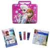 Frozen Disney Glam Kids Dress Up Makeover and Lunch Box Bundle Kit Princess Anna and Elsa Theme