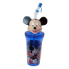 Mickey Mouse Blue Kid's Tumbler With Re-Usable Unique Micky Head Straw Design