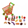 toy grocery shopping cart with food accessories