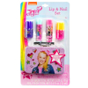 JoJo Siwa Girls Lip Balm and Nail Polish Gift Set Collectible Tin Carry Case