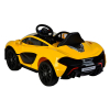 Licensed McLaren P1 12V Kids Ride On Car - Yellow Side View