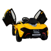 Licensed McLaren P1 12V Kids Ride On Car - Yellow Butterfly Doors Up