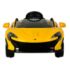 Licensed McLaren P1 12V Kids Ride On Car - Yellow Front View