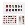 12 Press On Nail Art Pieces with Various Pictures of Minnie and Mickey Mouse