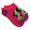Disney Minnie Mouse Girls Ankle Socks Pink and Purple Size 6-8