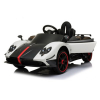 KidPlay Products Licensed Pagani Super Ride On Car Leather Seats RC - White