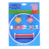 9pc Peppa Pig Hair Accessories Girls Gift Set Hair Ponies Headband Barrettes
