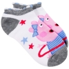 Peppa Pig Girls Ankle Socks Size 6-8.5 - Grey