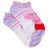 Peppa Pig Girls Ankle Socks Size 6-8.5 - Purple