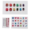 12 Press On Nail Art Pieces with Various Pictures of Disney Princesses