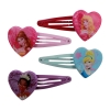 4 Disney Princess Colorful Heart Hair Clip Accessory