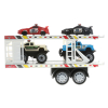 Friction Semi Truck Trailer Police Cars and Monster Trucks Carrier Assorted