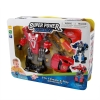 Red Super Power Robot for Boys Tools in Use Transformers