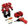 Super Power Robot Red Kids Converting Toy Gift Box Transformers