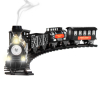 1:48 Large Scale Deluxe Train Set - Lights, Sounds, and Real Smoke (Black)