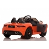Licensed Jaguar F-Type 12V Kids Battery Powered Ride On Car Rear View- Orange