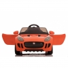 Licensed Jaguar F-Type 12V Kids Battery Powered Ride On Car Open Doors - Orange