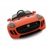 Licensed Jaguar F-Type 12V Kids Battery Powered Ride On Car Front Angle- Orange
