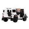 Licensed Range Rover Defender 12V Kids Battery Powered Ride On Car White Rear View Open Door