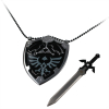 Mini Sword Detachable from Necklace