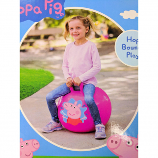 Peppa Pig Pink Kids Ride On Hopper Ball Exercise Toy Bouncing Fun