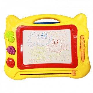 Doodle Draw CB2010 Magnetic Color Drawing Board Kids Toy Art Play Set, Yellow