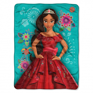 Disney Princess Elena of Avalor Kids Fleece Throw Blanket 40 x 50 Inch - Green