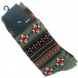 ASR Outdoor Adventure Wilderness Socks One Size Fits Most Southwest Style Green