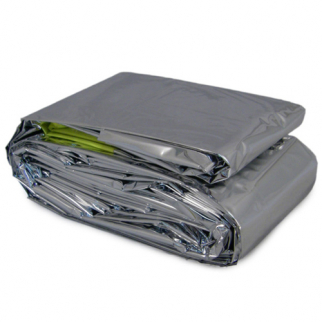 mylar sleeping bag folded up