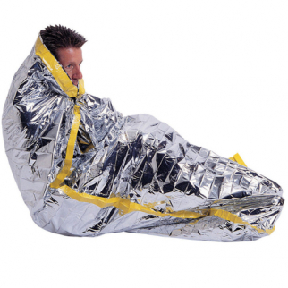 Emergency Reflective Survival Sleeping Bag Lightweight Mylar Insulation 36x84in