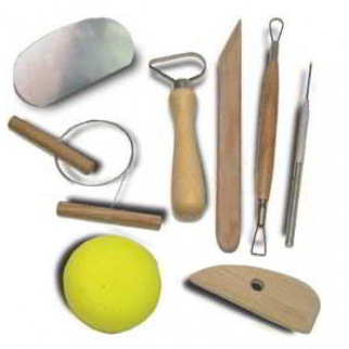 8pc Basic Pottery Kit Clay Molding Hobby Arts and Craft Tool Set for Beginners