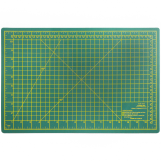 DIY Craft Engineering Self Healing Cutting Mat Double Sided Green, 18x12