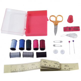 sewing kit contents and case