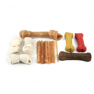 22pc Rawhide Dog Bark Box