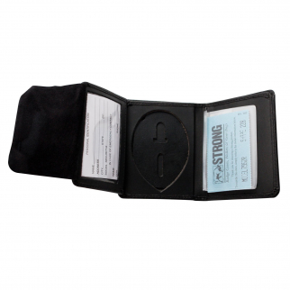 ASR Federal Law Enforcement Leather Hidden Badge RFID Wallet - Oval