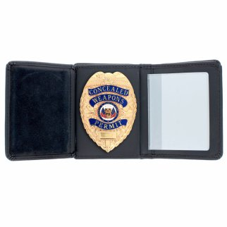 ASR Federal Law Enforcement RFID Leather Hidden Badge Folding Wallet - Shield