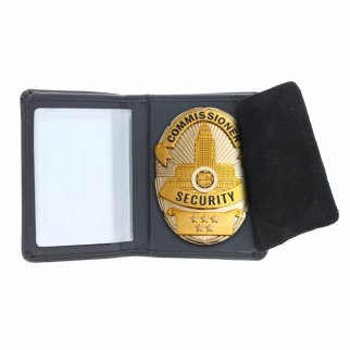 Law Enforcement Badge Wallet Bill Fold Oval Shape