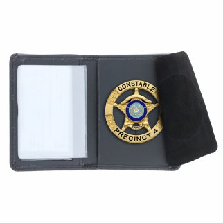 Law Enforcement Badge Wallet Bill Fold Round Shape