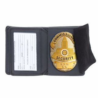 ASR Federal Law Enforcement Leather Hidden Badge Wallet - Oval
