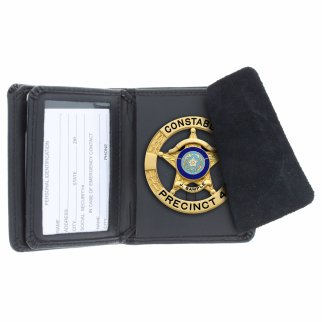 ASR Federal Law Enforcement Leather Hidden Badge Wallet - Round