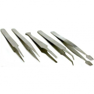 5pc Hobby Tweezer Set Stainless Steel