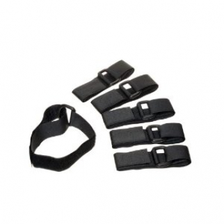 6pc D-Ring Adjustable Multi-Purpose Velcro Quick Straps