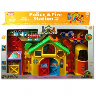 Police and Fire Station Set